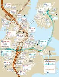 South Station Boston Map by I 93 And I 90 Boston Map Boston Ma U2022 Mappery