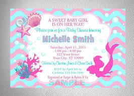 mermaid baby shower invitation theruntime com