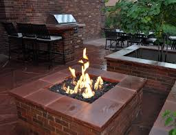 Brick Fire Pits by Mile High Landscaping Denver Cherry Hills Castle Pines Rock Fire