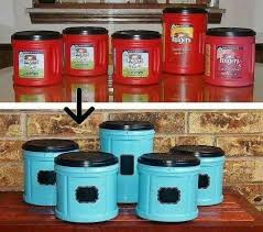 clear plastic kitchen canisters fabulous folger s coffee plastic container upcycle folgers