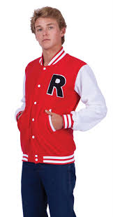 mens costumes men s letterman jacket costume 50 s costumes 50 s