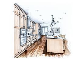 more recent kitchen renderings interior sketch architectural