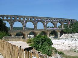 excellently preserved 3 tiered roman aqueduct in orange france