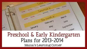 reading curriculum for kindergarten preschool and early kindergarten curriculum plans for 2013 2104