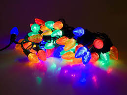 led holiday chain lights multi colored c7 bulbs gch c7 50l mu