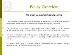 Formal Credit Policy Policy Overview In State Or Out Of State Institutions