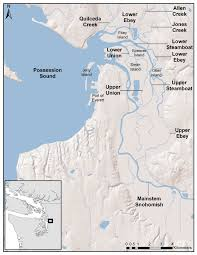 Map Of Rivers 1 Map Of The Snohomish River Estuary And The Major Channel Network