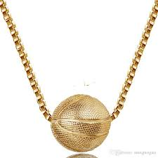 diamond necklace charms images Wholesale basketball pendant necklace gold color ball charms jpg