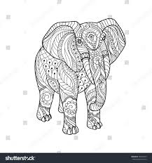 elephant on white background freehand sketch stock vector