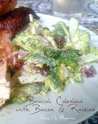 bacon sunflower seeds broccoli coleslaw with bacon and raisins