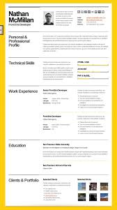 Bold Resume Template by Html Resume Template Free Bold Cv Minimal Smart Schweizer One Page
