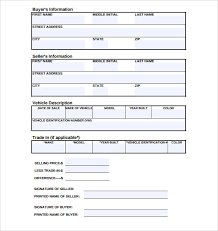 Free Sle Of Bill Of Sale For Used Car by Used Car Sale Of A Bill 7 Free Documents In Pdf Word
