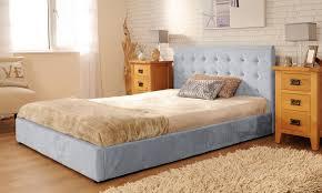 Suede Bed Frame Upholstered Faux Suede Deluxe Bed Frame 3ft 4ft6 5ft Mink In Mink