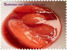 cuisine au vin rosé nectarines au épices et vin rosé oranges et epices
