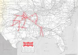 frisco map about the frisco railroad frisco archive