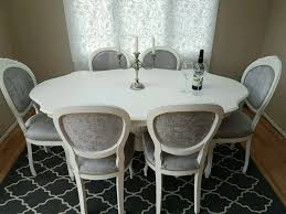 stunning shabby chic italian dining table and 6 chairs in