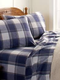 plaid flannel sheets woven in portugal