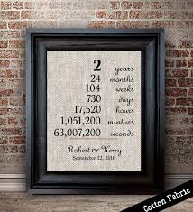 2 year wedding anniversary gift cotton anniversary gift for wedding anniversary print