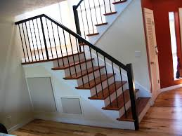 home interior railings simple iron stair railing for interior home stairs decoration