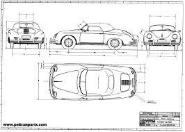 porsche cartoon drawing speedster blueprint large jpg 4852 3464 u2022 g r a p h i c s