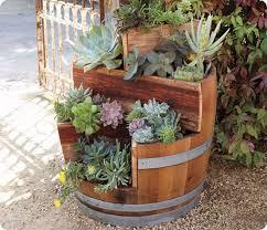 64 best wooden barrels repurposed images on pinterest garden
