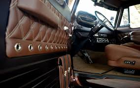 Diamond Tuck Interior Whiskey Bent Tim Molzen U0027s 1962 Dodge Sweptline Crew Cab U2013 Slam U0027d Mag