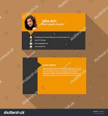modern simple light business card template stock vector 162388442