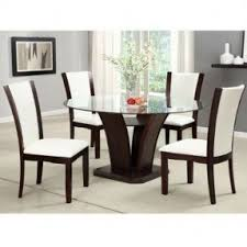 glass top dining room set dining table round glass foter