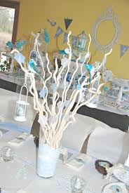 Center Table Decorations Center Table Decoration For Baptism Baptism Centerpieces Boys And