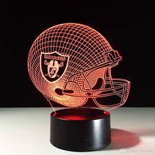 Dallas Cowboys Home Decor 2017 Seven Colors Changing Oakland Raider Light 3d Visual Led