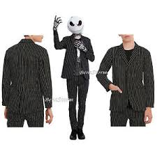 Jack Skellington Costume Rude Nbc Jack Skellington Costume Pin Striped Suit Blazer