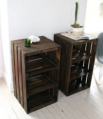 Outdoor Side Table Ideas by Wood Crate Handmade Table Great Idea So My Husband Can Hide All