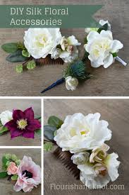 flower accessories diy silk floral hair comb diy hair accessories