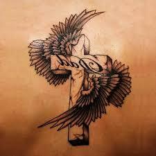 3d cross tattoo design of rosary on sleeve tattoo design ideas