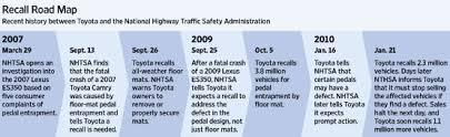 toyota car recall crisis delay in response led to rift between toyota and u s regulators wsj