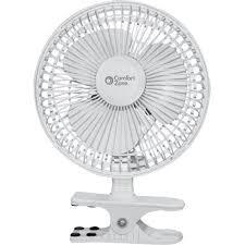 6 Inch Oscillating Desk Fan Comfort Zone Cz6c 6 Inch Clip On Desk Fan White Walmart Com