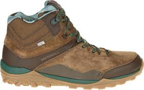 merrell fraxion mid waterproof mens trekking hiking leather shoes