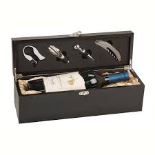 wine set gifts wine set matte black finish box specialty trophy awards