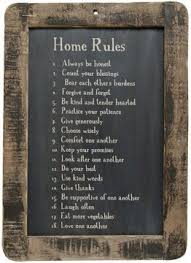country home wall decor amazon com framed home rules blackboard primitive country