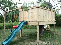 Backyard Swing Plans by Nearly Handmade Building Stairs For The Club House