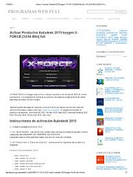 activar productos autodesk 2015 keygen x force 32 64 bits full