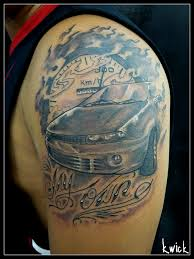 custom car tattoo by kwickrodrigues on deviantart