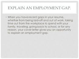 awesome sample cover letter explaining gap in employment 92 with