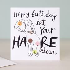 Doodle Birthday Card Doodle Happy Birthday Card Let Your Hare Down Caroline Gardner