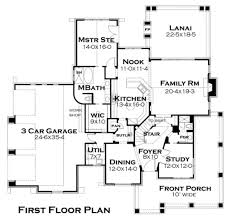craftsman style house plan 4 beds 3 baths 2487 sq ft plan 120