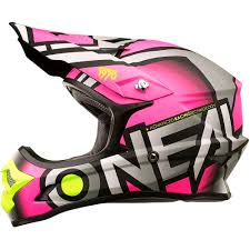 cheap kids motocross helmets oneal 2018 ladies mx new 3 series radium grey pink womens