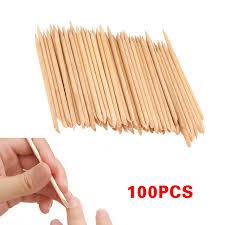 aliexpress com buy 100 pcs set nail art wood sticks cleaning