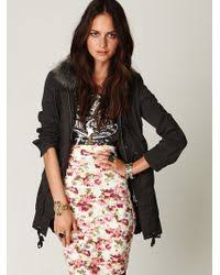 Free People Parka Free People Sweater Lined Parka In Black Lyst