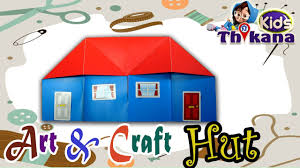art and craft how to make small paper house easy learn kids