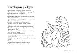 thanksgiving glyph worksheet free esl printable worksheets made
